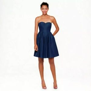 J.Crew Marlie Classic Faille Strapless Prom Dress